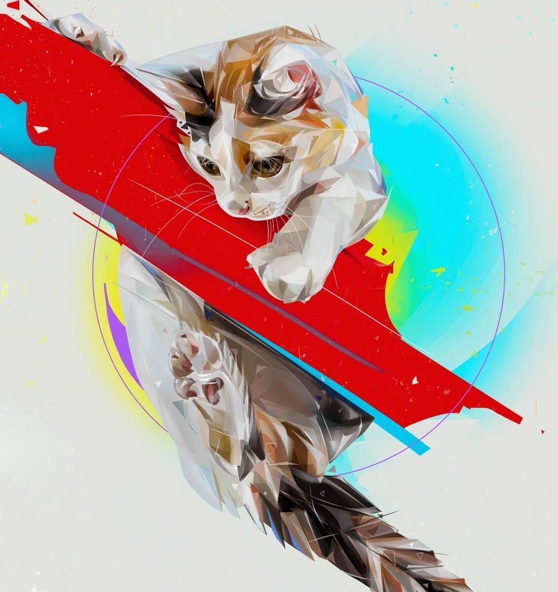 Ilustraciojnes Digitales Gatos 1