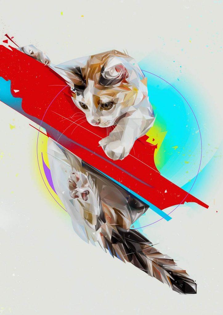 Ilustraciones digitales con gatos 1