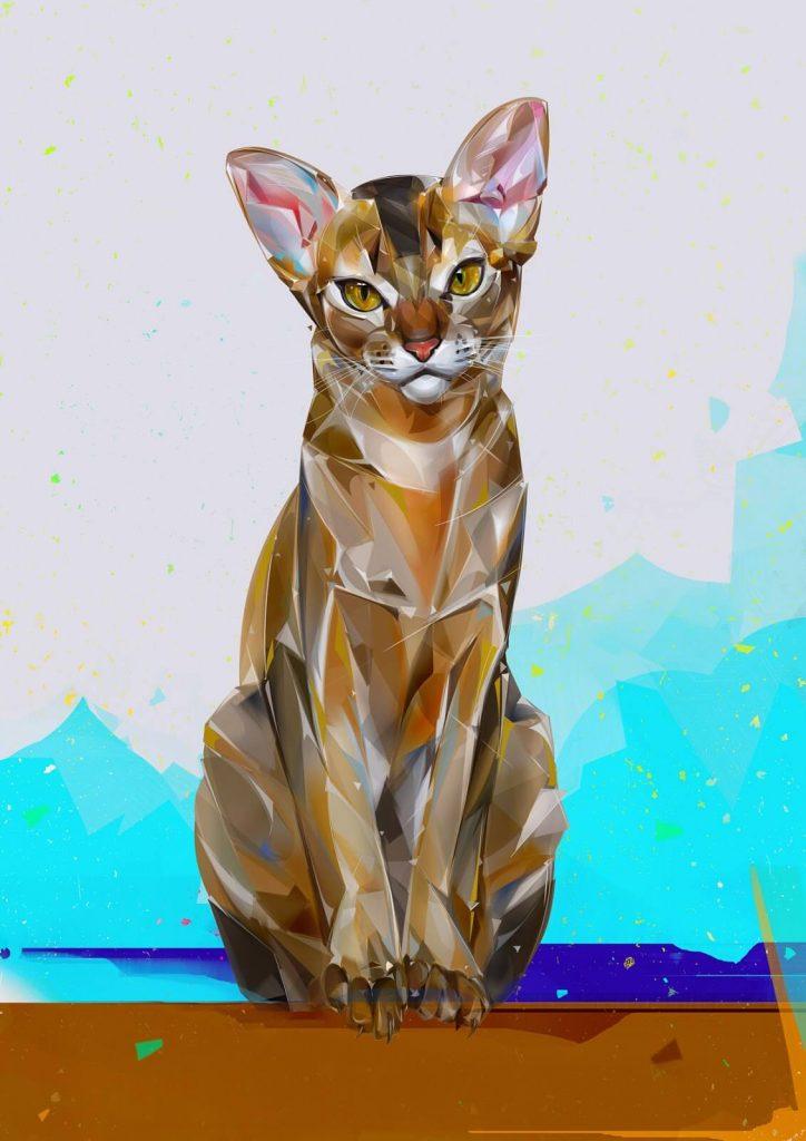 Arte digital con gatos 2