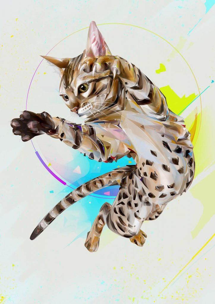 Arte digital con gatos 3