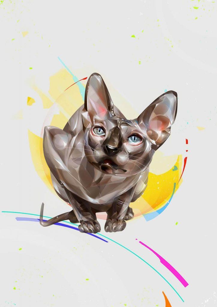 Arte digital con gatos 4