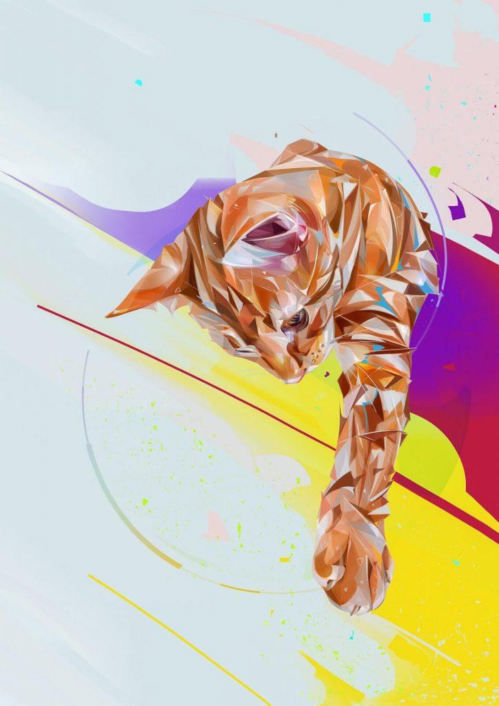 Ilustraciones digitales con gatos 6