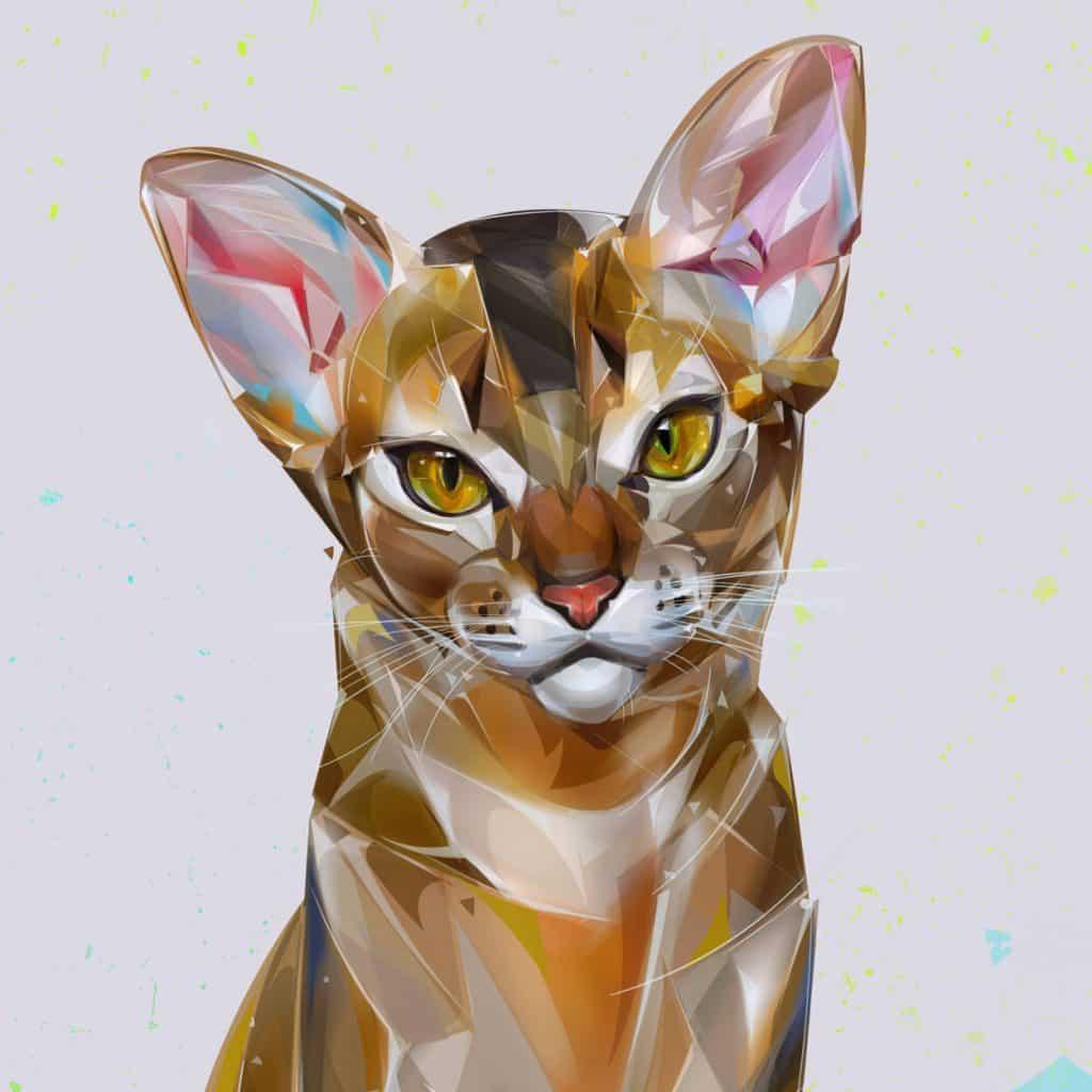 Arte digital con gatos 5