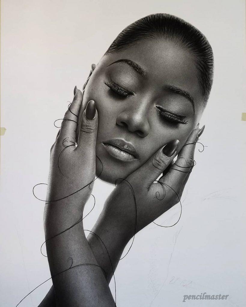 Ilustraciones realistas en blanco y negro 3